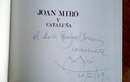 Livre Illustré Miró - JOAN MIRÓ Y CATALUÑA (Signed)