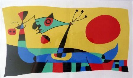 Lithographie Miró - Joan Miró Jacques Prévert et Ribemont-