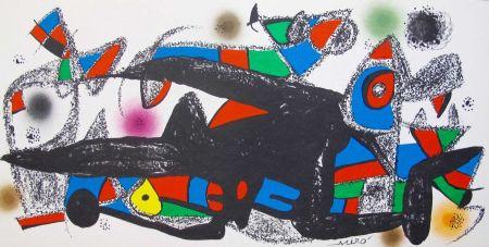 Lithographie Miró - Joan Miro - Miró Escultor . Dinamarca 40 X 20 Cm.firmada En Plancha
