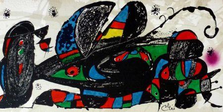 Lithographie Miró - Joan Miro - Miró Escultor . Irán 40 X 20 Cm.firmada En Plancha