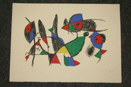 Lithographie Miró - Joan Miro Lithographs Ii  Plate 10