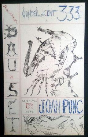 Affiche Ponç - Joan Ponç Dau al Set 1974