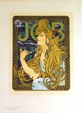 Lithographie Mucha - Job Papier à Cigarettes