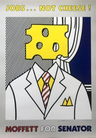 Lithographie Lichtenstein - Jobs... Not Cheese (Hand Signed)