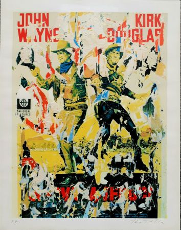 Sérigraphie Rotella - John Wayne - Kirk Douglas
