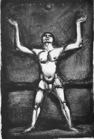 Lithographie Rouault - Jongleur