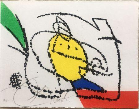 Livre Illustré Miró - Jordi de Sant Jordi : CHANSON DES CONTRAIRES. Une gravure signée de Joan Miró (1976).