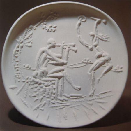 Céramique Picasso - Joueur de diaule et faune