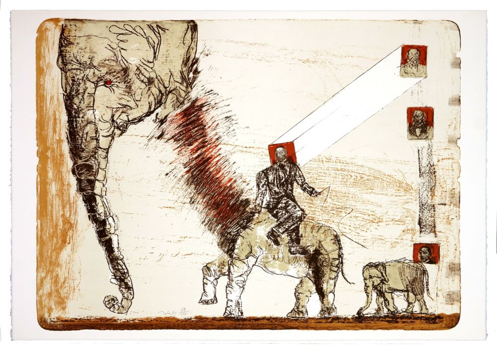 Lithographie Toledo - Juarez