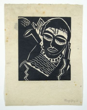Gravure Sur Bois Achmann - Judith und Holofernes I