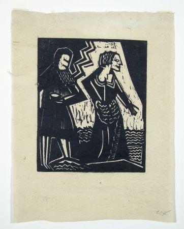 Gravure Sur Bois Achmann - Judith und Holofernes II