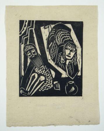 Gravure Sur Bois Achmann - Judith und Holofernes III