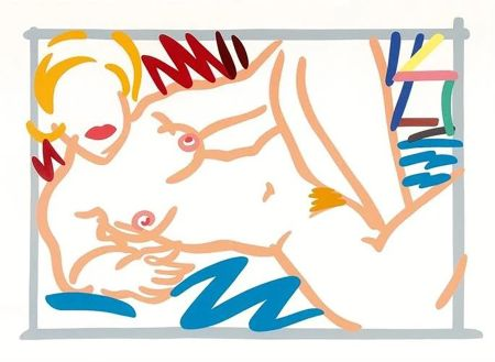 Sérigraphie Wesselmann - Judy on a Blue Blanket