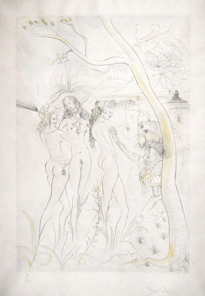 Gravure Dali - Jugement de Paris