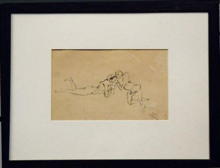 Aucune Technique Pascin - Jules Pascin. Couple allongé, vers 1922. Dessin.