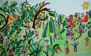 Lithographie De Saint Phalle - Jungle