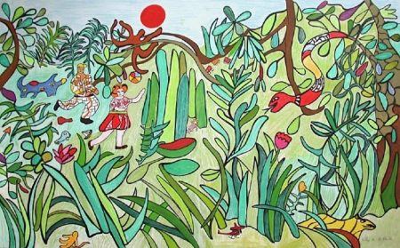 Lithographie De Saint Phalle - Jungle 2