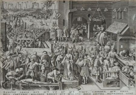 Eau-Forte Brueghel - Justice from The World of Seven Virtues