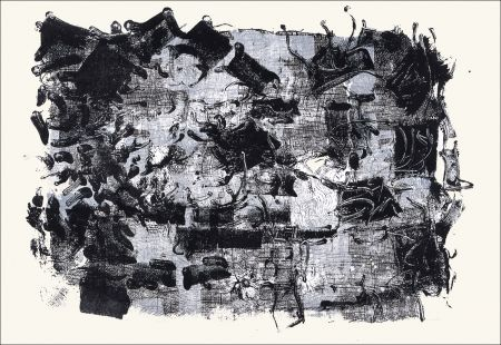 Lithographie Riopelle - Jute III