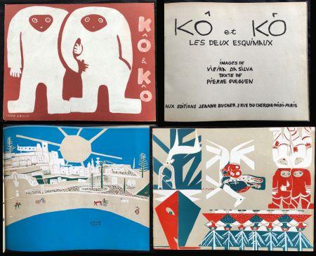 Livre Illustré Vieira Da Silva - KÔ & KÔ, les deux esquimaux. Aux éditions Jeanne Bucher, Paris 1933.