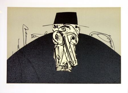 Lithographie Saura - Kafka - Tagebücher IX