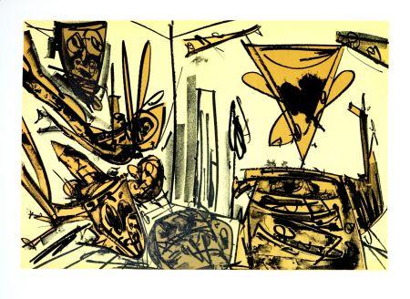Lithographie Saura - Kafka - Tagebücher VI