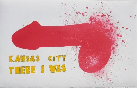 Lithographie Dine - Kansas City There I Was (1970)