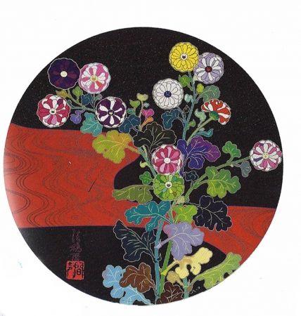 Lithographie Murakami - Kansei Korin Red Stream