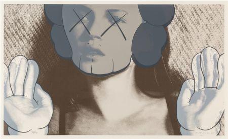 Sérigraphie Kaws - Kate Moss White Gloves is a Sreenprint by KAWS