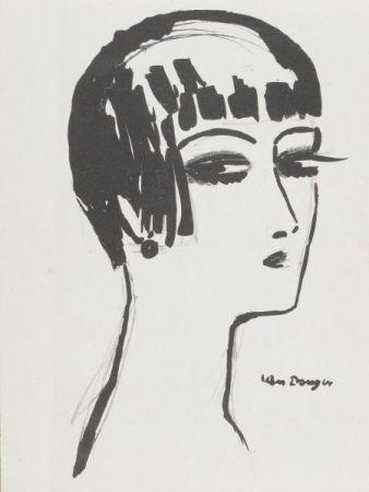 Lithographie Van Dongen - Kees Van Dongen(1877-1968) Les cheveux courts , 1924
