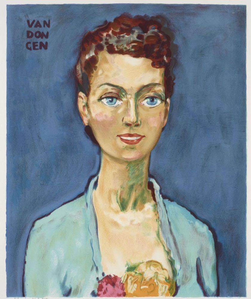 Lithographie Van Dongen - Kees van Dongen (1877-1968). Hommage à Marie-Claire. Lithographie signée.