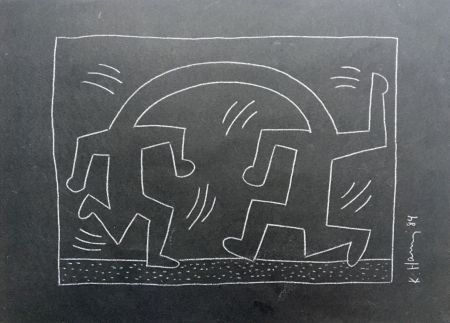 Aucune Technique Haring - Keith Haring 'Untitled (Oneness)' 1984 Hand Signed Original Pop Art Drawing