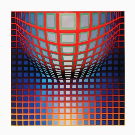 Héliogravure Vasarely - '' KEZDI - VEGA ''