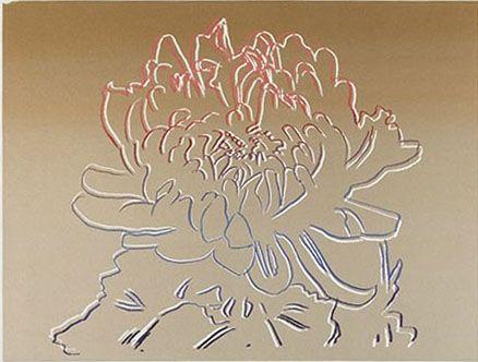 Sérigraphie Warhol - Kiku Gold & Pink