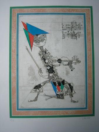 Eau-Forte Et Aquatinte Finsterer - King Beat