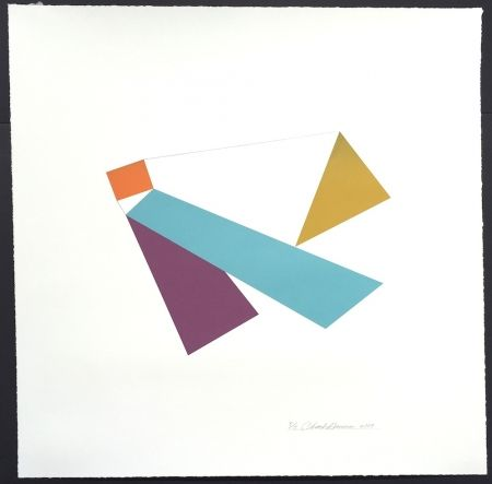 Sérigraphie Hinman - Kite, from Kites Suite