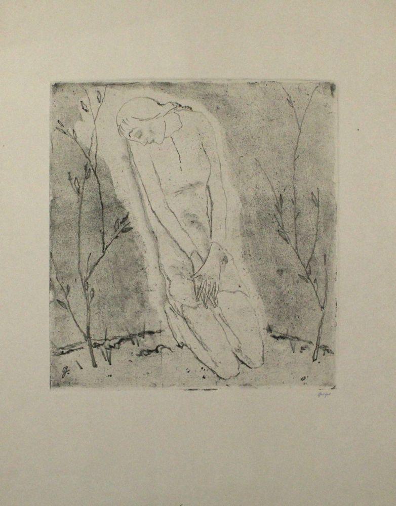 Eau-Forte Et Aquatinte Geiger - Kniende (Grosse Fassung) / Kneeling Woman (Large Version)