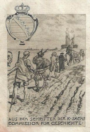 Eau-Forte Et Aquatinte Klinger - Kollektiv-Titel für Veröffentlichungen der kgl. sächsischen Komission für Geschichte
