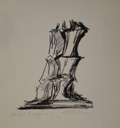 Lithographie Wotruba - Komposition
