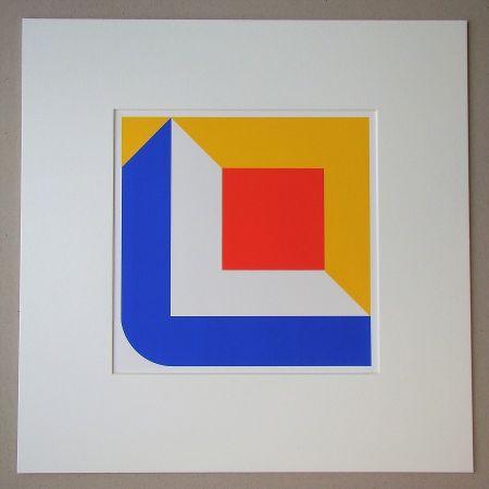 Sérigraphie Pfahler - Komposition 1968