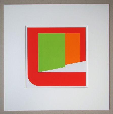 Sérigraphie Pfahler - Komposition 1969