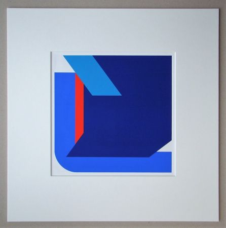 Sérigraphie Pfahler - Komposition 1975