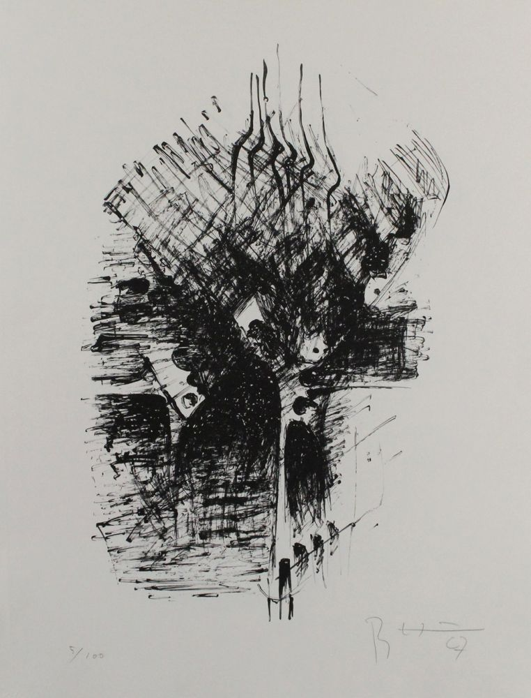 Lithographie Heiliger - Komposition III