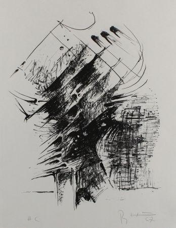 Lithographie Heiliger - Komposition IV