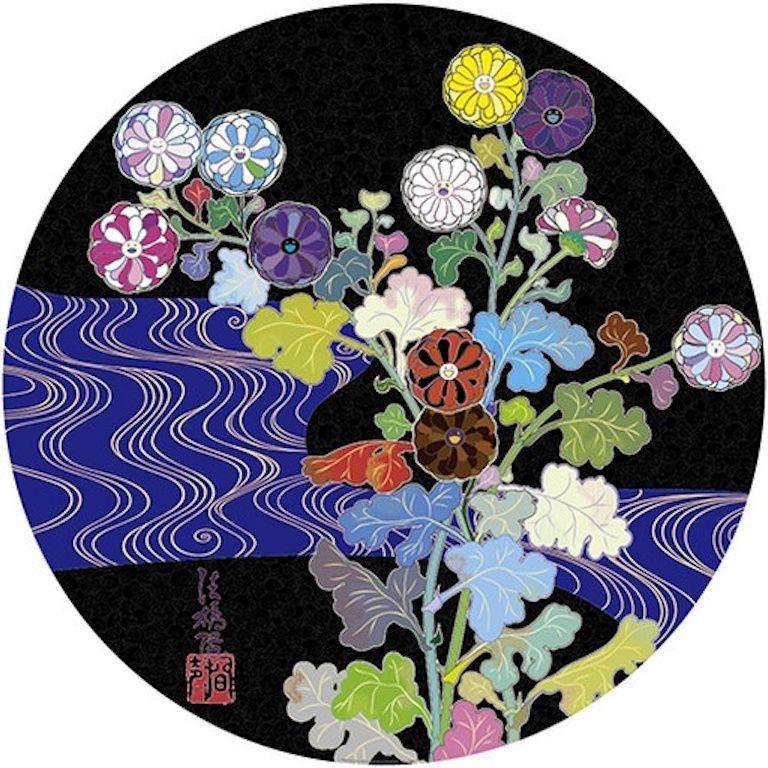 Lithographie Murakami - Korin: Azure River