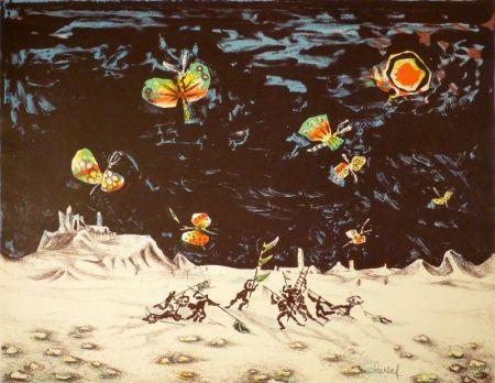 Lithographie Lurcat - (Krieg und Frieden)