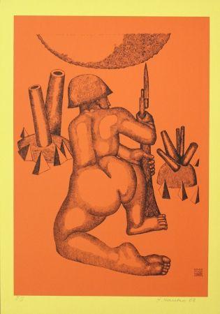 Lithographie Hanko - Krieger (Warrior)