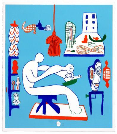Lithographie Behncke - Kristian Hildebrandt