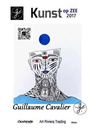 Affiche Cavalier - '' Kunst Op Zee ''