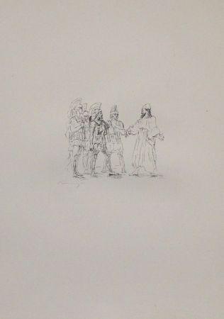 Lithographie Slevogt - Kyros und die hellenischen Obersten